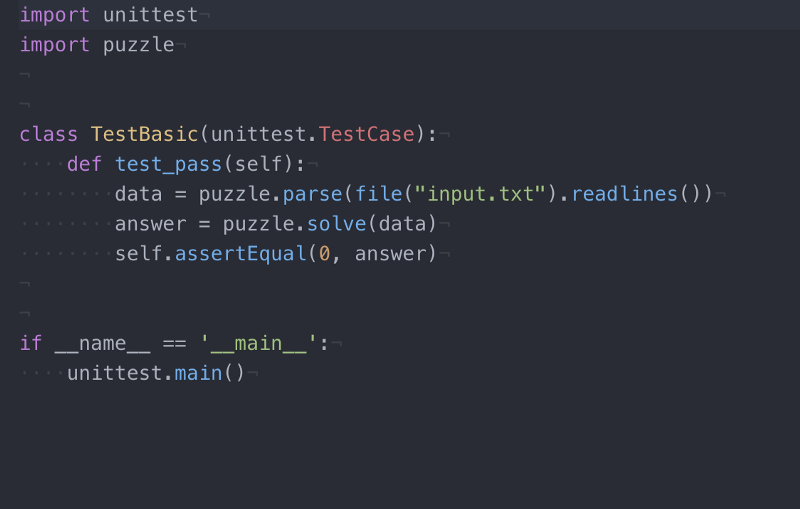 The same code in Atom. See the colours showing strings, special words etc