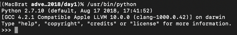 Python on the mac, ignore the /usr/bin bit